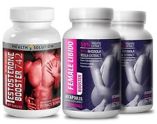 Testosterone Booster T742 & Female Libido Booster Promotes Sexual Vitality (1+2)