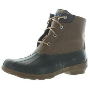 Sperry Womens Syren Brown Waterproof Snow Boots Shoes 10 Medium (B,M) BHFO 6685