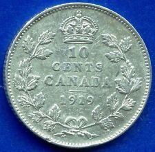 1919 Canada 10 Cent Coin (2.32 Grams .925 Silver)