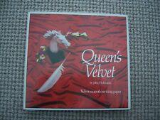 Vintage Queen's Velvet Letter Writing Envelope and Jotter gift set
