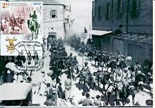 ISRAEL 2018 100 YEARS WW1 INDIA CAVALRY ENTERING HAIFA MAXIMUM CARD
