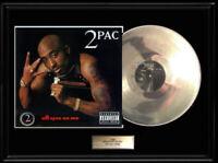 TU PAC ALL EYEZ ON ME WHITE GOLD SILVER PLATINUM TONE RECORD TUPAC 2PAC LP 2 PAC
