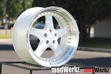 18x9.5 Inch +22 ESR SR04 5x120 White Equip Wheels Rims BMW e36 e46 e60 e90 e92