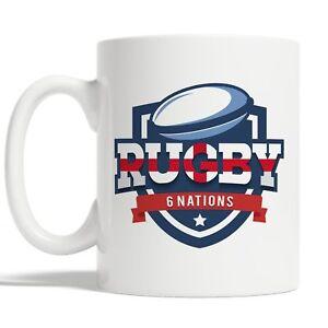 English Rugby Mug Coffee Cup Gift Idea 6 Nations England Sports Flag JA118