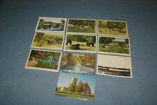 10  Lublin Wisconsin Postcards 1 Chrome 8 Linen 1 Real Photo RPPC Mud Lake