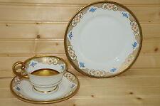 "Koenigszelt 4448  (3) Pieces-  Cup, 2¼""- Saucer 6 1/8""- Salad Plate 7 5/8""-Gold"