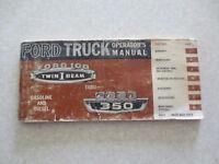 Original 1965 Ford trucks owner's manual - F Series 100 250 350 truck