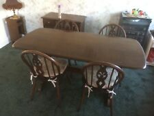 🍴  Ercol Dark Oak Dining Table Suite With Four Chairs 🍴  Coxhoe DH6