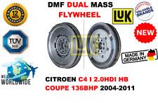 FOR CITROEN C4 I 2.0HDI HB EST 136BHP 2004-2011 NEW DUAL MASS DMF FLYWHEEL