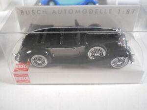 HO 1:87 Busch 1933 BLACK METALIC GRAY Horch 853 CABRIO OFFEN 41314