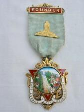 Masonic Sterling Silver & Enamel Forest Gate Lodge No.4153 Founders Jewel 1920.
