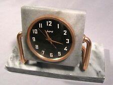Clock Molnija Molnia Table Russian Soviet Old Vintage Watch Marble Stone Desktop
