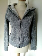 ABERCROMBIE & FITCH fleece lined hoodie jacket. M  10/12. Grey marl.Lovely style