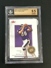 2001 Fleer Authority #112 Todd Heap RC BGS 9.5 GEM MINT RAVENS