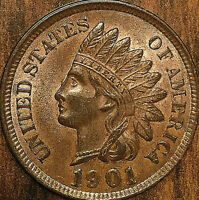 1901 USA INDIAN HEAD SMALL CENT PENNY - Uncirculated