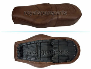 Royal Enfield Comfortable Leather Dual Seat Brown For GT 650 & Interceptor 650