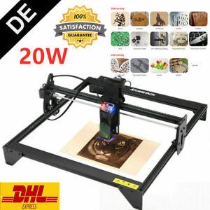 ATOMSTACK A5 20W Laser Graviermaschine Gravurmaschine DIY Engraving Drucker *