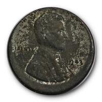 1943 Lincoln Wheat Cent Steel War Penny Struck Off Center Mint Error #RP35