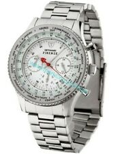 DETOMASO Firenze Mens Wrist Watch Chrono Stainless Steel White Dial SM1624C-WH