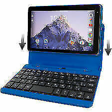 "RCA Voyager Pro 7"" HD Tablet 4 Core 16gb 6 HR Keyboard Case Android 6.0 Blue"