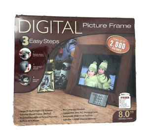 """Smartparts SPDPF84M 8Inch Digital Picture Frame High Resolution 8"""" LCD Display"""