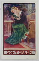 Don't Crush Postcard, Bamforth Artcolor Series 118, Posted 1911