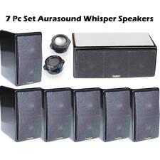 7Pc AuraSound Whisper Mini 7.1 Surround Sound Home Theater Satellite Speakers