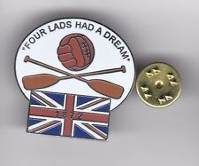 """Rangers """" Four Lads Had a Dream """" - lapel badge butterfly fitting"""
