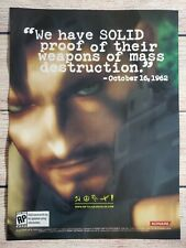 Metal Gear Solid 3 Snake Eater Playstation 2 PS2 Magazine Promo Ad Print Poster