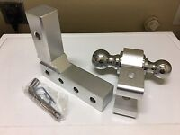 """Aluminum Tow Hitch with dual Ball 2 5/16"""" And 2"""" FOR BOAT TRAILER LIGHT RV"""