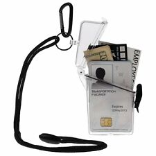 WITZ See it Safe Waterproof ID/Badge Holder Case, Clear, New, Free Shipping