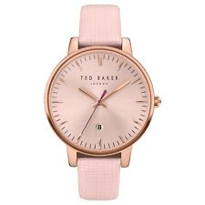 Ted Baker Ladies Pink Leather Strap Watch TE10030737 RRP £155