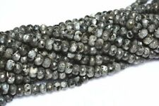 """Natural 5x8mm Faceted India Black Gray Labradorite Gems Abacus Loose Beads 15"""""""