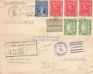 GUATEMALA - REGISTERED MAIL 1934 > PARIS