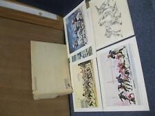 1963 (5) National Beer Football Prints 1958 Colts Four Horsemen Notre Dame RARE