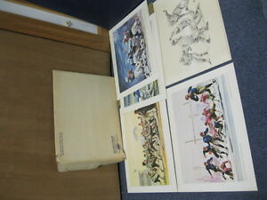 1963 (5) National Beer Football Prints 1958 Colts Four Horsemen Notre Dame RARE