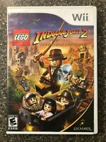 Lego Indiana Jones 2 (Nintendo Wii Children's Game) Complete w/ Manual Free Ship