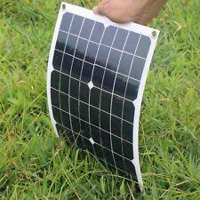 Hovall 20 Watt 12 Volt Monocrystalline Flexible Solar Panel with Dual Outputs