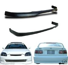 96 97 98 CIVIC 2 / 4 DOOR TYPE R PU BLACK ADD-ON FRONT + REAR BUMPER LIP SPOILER