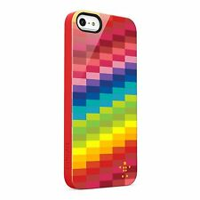 Genuine Belkin iPhone 5/5S Shield Pixel Case Cover Skin Multicoloured BNWT