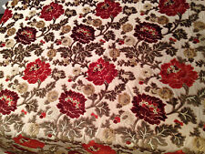 """Vintage Heavy Upholstery Embroidered King 58"""" By The Yard"""