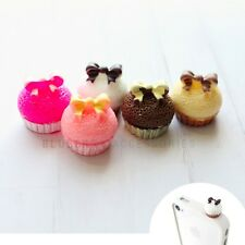 Cute White Bow Cupcake Anti Dust Plug Cover for iPhone Samsung HTC Accessory