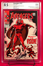 AVENGERS #57 PGX 8.5 VF+ Very Fine Plus 1st Silver VISION signed STAN LEE +CGC!!