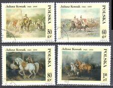 Poland 1997 - Paintings, by Juliusz Kossak - Mi 3662-65 - used