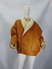 MONTONE SHEEPSKIN SHEARLING Cappotto Jacket Coat Giubbino Tg 54 Woman Donna G10