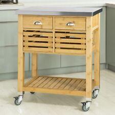 SoBuy®Carrito de cocina con piso de acero,estantería de cocina,FKW40-N,ES