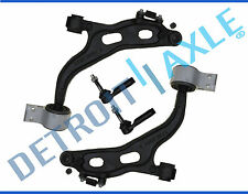 (2) New Both Front Lower Control Arms + Ball Joints + Outer Tie Rod End Links
