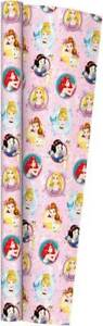 4m (2 x 2m) Kids Roll Gift Wrap - Disney Princess - Party Child Present