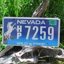 Véritable Plaque D' Immatriculation Etat du Nevada (7259)- USA - License Plate