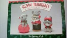 Hallmark Merry Minatures The Sewing Club